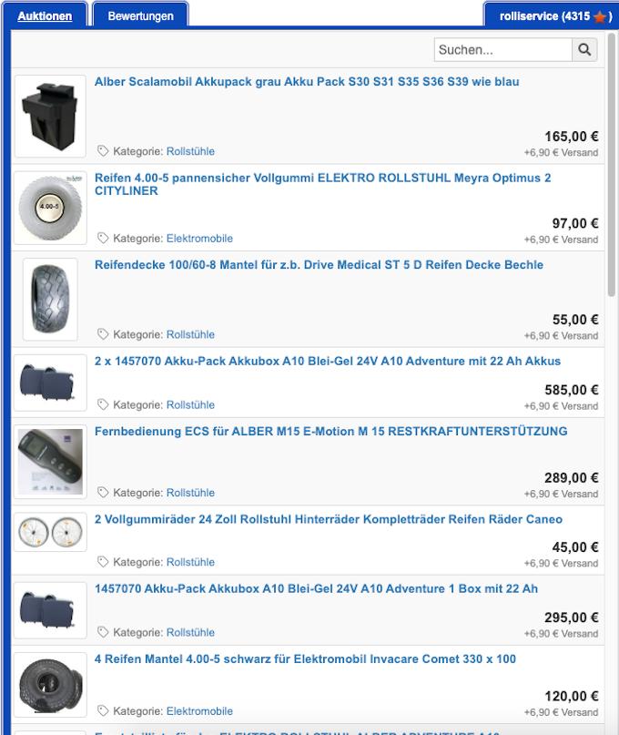 Angebote finden Sie auch in unserem Ebayshop
