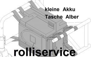 Neue Akku-Tasche klein inkl. Klettbänder für Alber E-FIX alle Mo