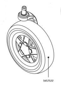 1457122 Vorderrad links komplett  Alber Adventure A10